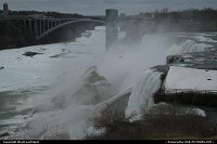 Niagara Falls from the USA. The famous horse shoe shaped fall is on the Canadian side of the area