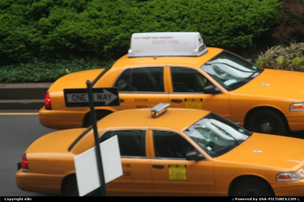 Picture by elki:New YorkNew-yorkNew york cabs @central park