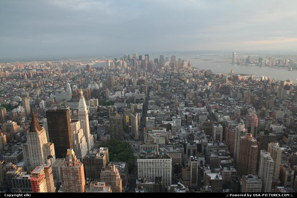 Picture by elki: New York New-york   Manathan view from empire state