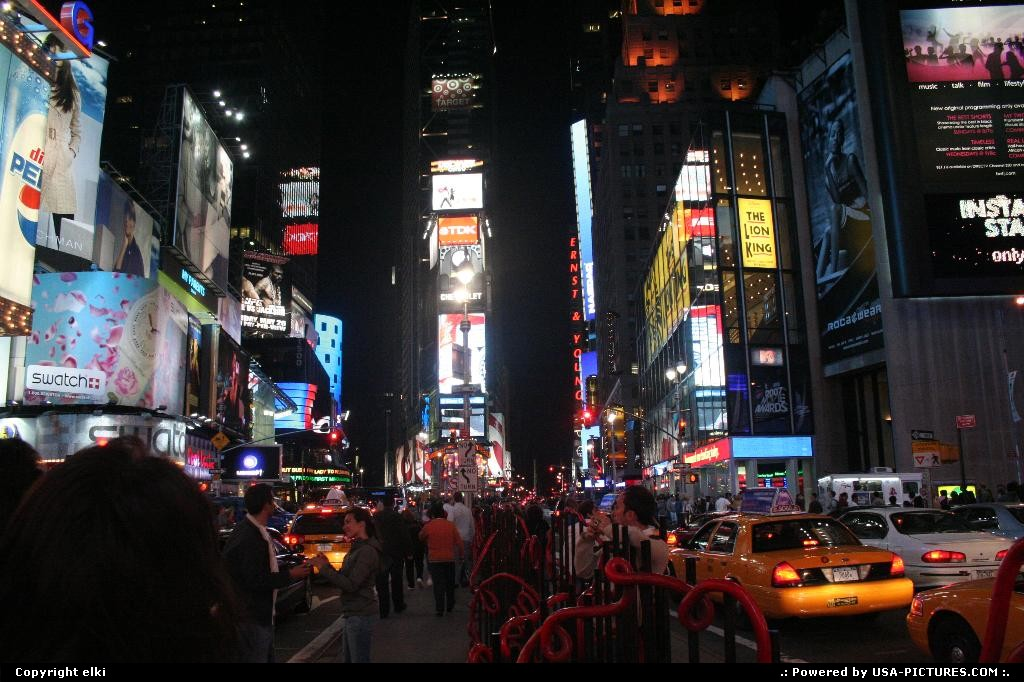 Picture by elki: New York New-york   Time square