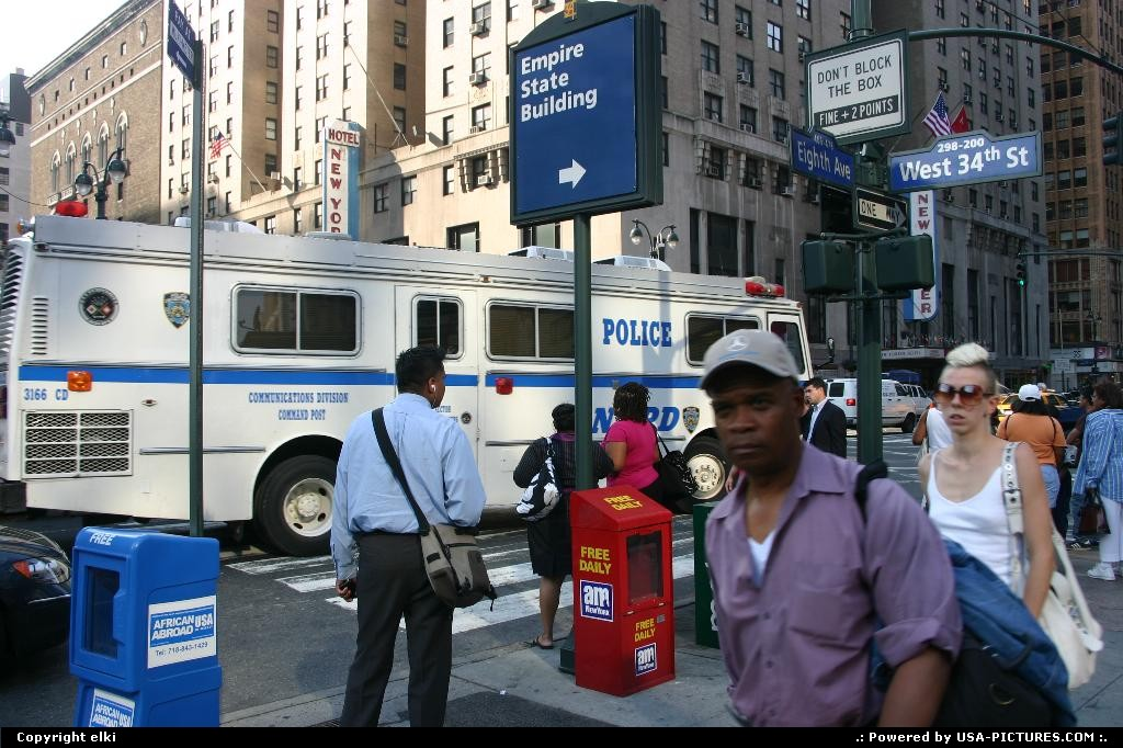Picture by elki: New York New-york   police new york