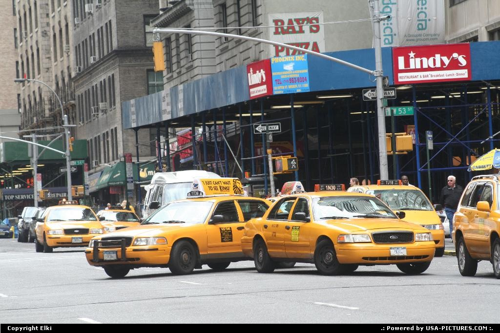 Picture by elki: New York New-york   cabs, yellow cabs, cab