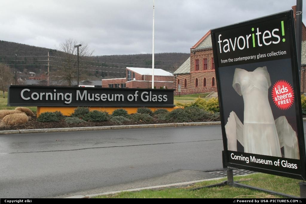 Picture by elki: Corning New-york   corning glass museum