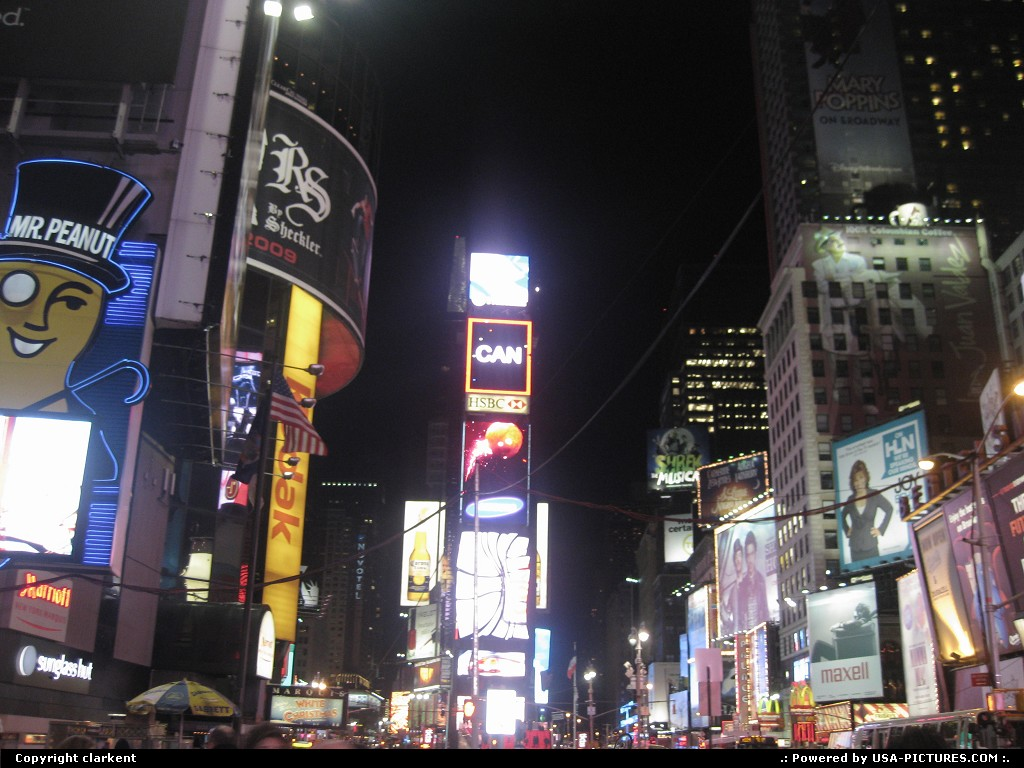 Picture by clarkent: New City New-york   Time square
