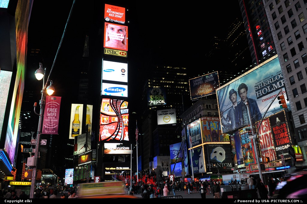 Picture by elki: New York New-york   times square