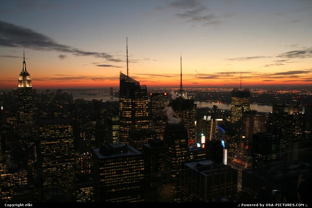 Picture by elki: New York New-york   New york manathan sunset