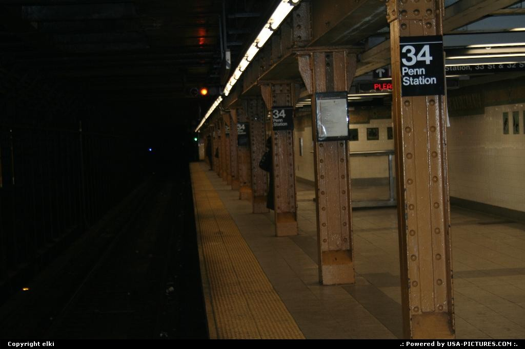 Picture by elki: New York New-york   subway new york