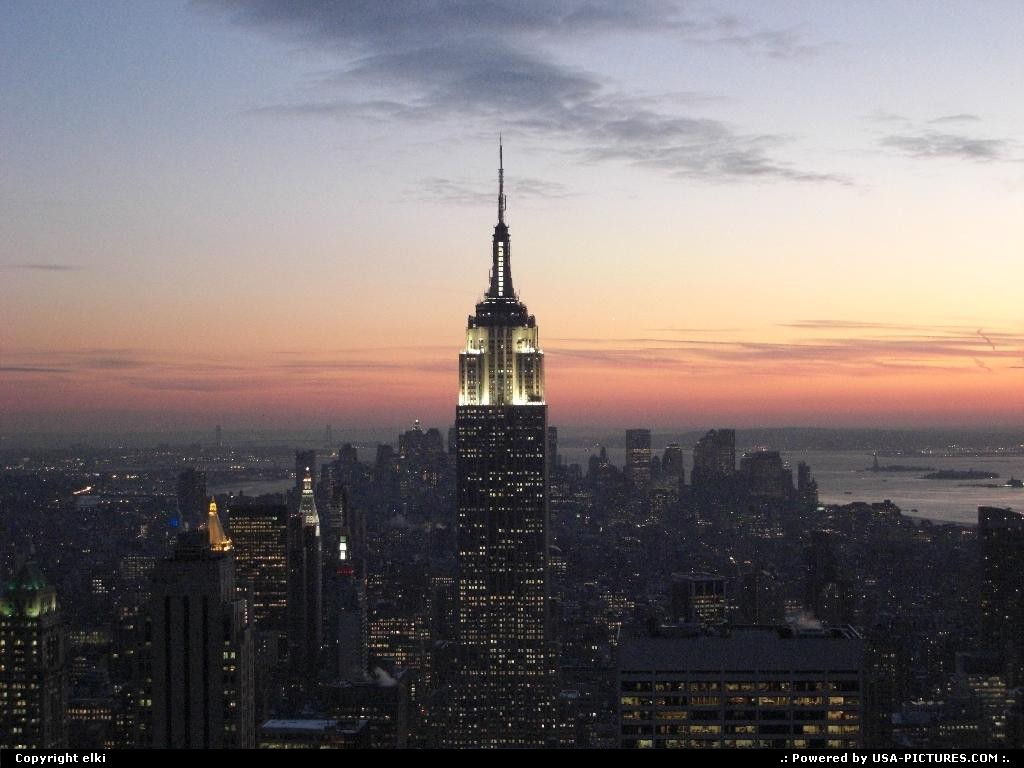 Picture by elki: New York New-york   new york sunset