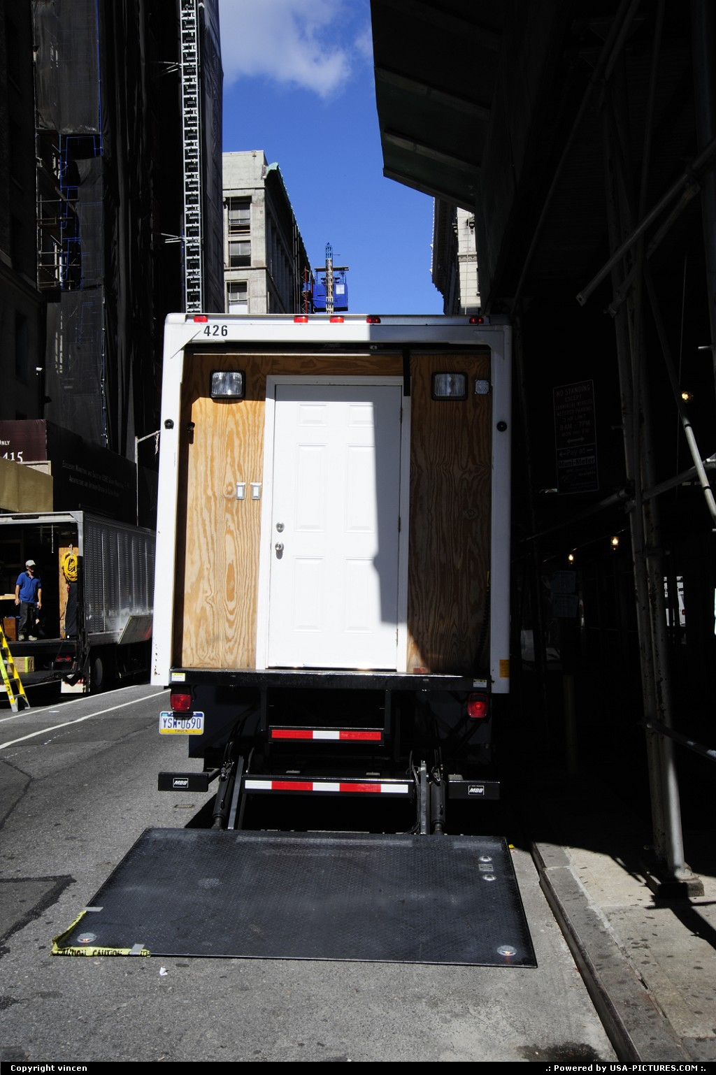 Picture by vincen: New York New-york   manhattan house home door truck delivery