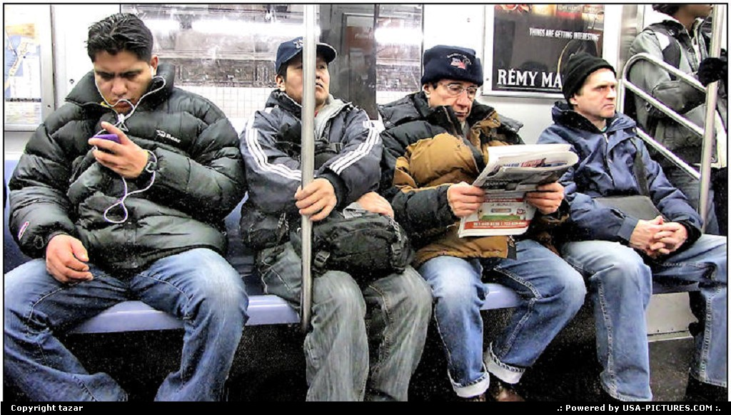 Picture by tazar: New York New-york   people,metro