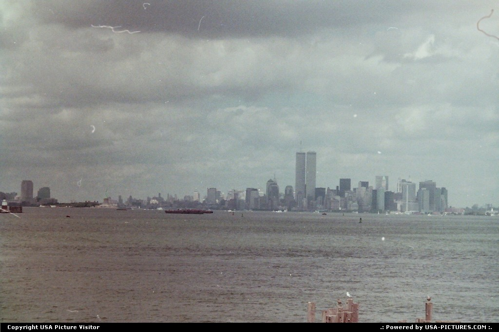Picture by airtrainer: New York New-york   new york, skyline, manhattan, ferry