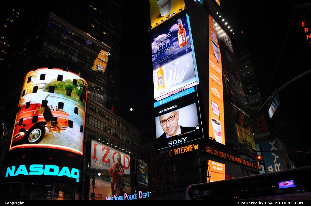 Picture by USA Picture Visitor: New York New-york   times square, jfk, nyc, new york city, neons