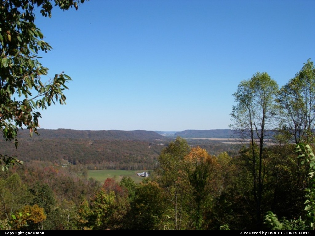 Picture by gnewman: West Portsmouth Ohio   valley, trees, autumn, fall