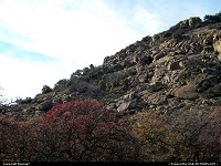 Oklahoma, Late Fall Foliage leave changes at Quartz Mountain in Southwest Oklahoma