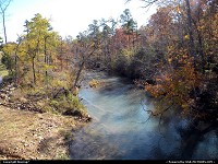 Oklahoma, Stream among changing leaves in the Fall Foliage of Southeast Oklahoma