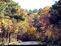 Scenic drive throught the Mountains of Southeast Oklahoma during Autumn Glory