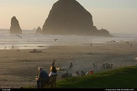Amazing Cannon Beach at sunset