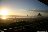 Oregon, Sunset, Cannon Beach