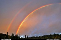 Amazing double rainbow in Grants Pass, Oregon.
