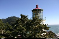 Photo by elki | Yachats  lighthouse, heceta