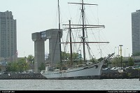Pennsylvania, beautiful sail boat at Philadelphia harbor