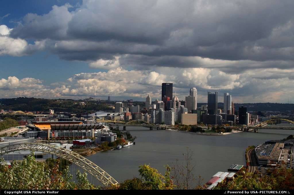 Picture by USA Picture Visitor: Pittsburgh Pennsylvania   Pittsburg PA, Pittsburg, Steele curtain, three rivers, downtown Pittsburg, cities, Big Cities, City and rivers