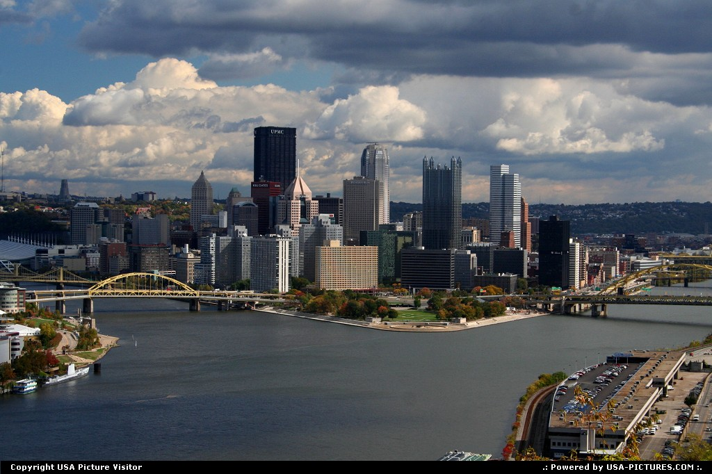 Picture by USA Picture Visitor: Pittsburgh Pennsylvania   Pittsburg PA, Pittsburg, three rivers, skyline, Steel Curtian, Pittsburg and bridges
