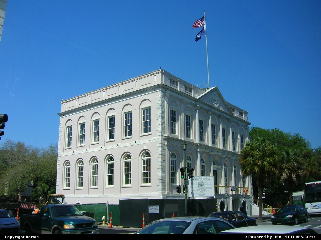 Picture by Bernie:CharlestonSouth-carolinacity hall, building, colonial