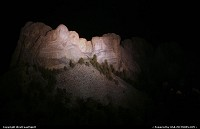Mount Rushmore by night