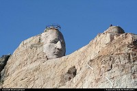 South-dakota, Crazy Horse, the world biggest mountain carving project worldwide is another amazing representation of the power of the will. It will take at least a couple more decades to finish this project.