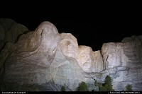 Not in a city : Mount Rushmore by night
