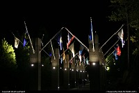 South-dakota, Flags Avenue at Mount Rushmore, by night