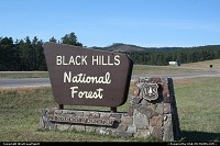 Entering the wonderful Black Hills National Forest, on the way to Mount Rushmore