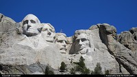 Not in a city : Mount Rushmore National Memorial. Washington - Jefferson - Roosevelt - Lincoln