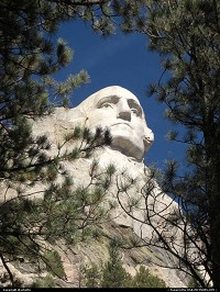 South-dakota, a different perspective of president washington in mount rushmore