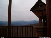 Gatlinburg TN. snow topped mountians
