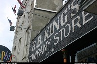Memphis : B.B. King's Company Store on Beale Street. Established 1947, as stated on the painted wall.