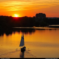 Photo by LoneStarMike | Austin  lake, sunset, sailboat