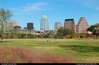 Photo by LoneStarMike | Austin  downtown, skyscraper, skyline, park