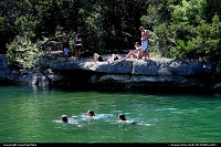 Photo by LoneStarMike | Austin  creek, greenbelt, swimmers