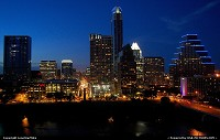Photo by LoneStarMike | Austin  skyscrapers, skyline, night