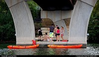 Photo by LoneStarMike | Austin  canoes, picnic