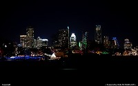 Austin,TX Skyline from Zilker Park during the Christmas