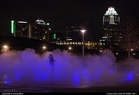 Photo by LoneStarMike | Austin  park, fountain, skyline