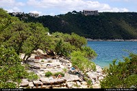 Hippie Hollow at Lake Travis - where nude sunbathing is allowed