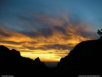 Photo by mlosuno |  Big Bend view window sunset clouds silhouette