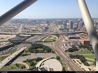 , Dallas, TX, From the newly renovated Reunion Tower observation deck. Nice 360 view of the city