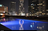 Texas, The famous Renaissance Tower in Dallas reflecting in Fairmont hotel pool. More on the tower on Wiki: http://en.wikipedia.org/wiki/Renaissance_Tower_(Dallas) On a funny note, the tour was Ewing Oil headquarter in the famous Dallas show in the 80's