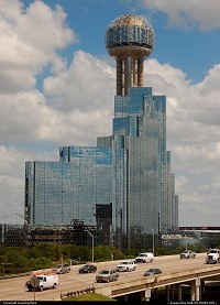 Photo by LoneStarMike | Dallas  skyscraper, observation, lounge, highway