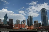 Dallas Skyline on this hot summer day